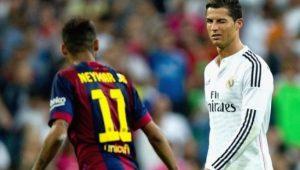 """Cristiano Ronaldo: """"Neymar sabe que as portas do Real estão sempre abertas para ele"""""""