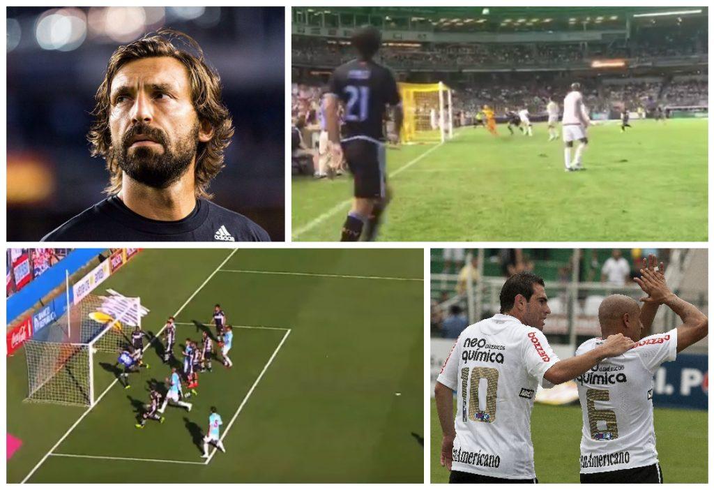 Pirlo acertou o travessão ao tentar marcar um gol olímpico  em 2011 f1afd1d8b286c