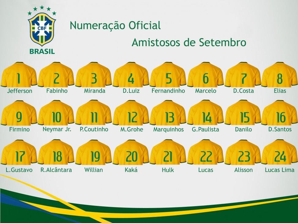 2138b3c26370c A Seleção Brasileira vai enfrentar a Costa Rica e os Estados Unidos com a  numeração acima