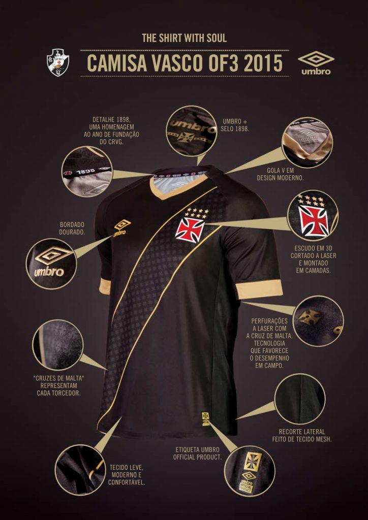Camisa número 3 do Vasco Terceira camisa do Vasco foi apresentada pela Umbro 379a7c631fd5d