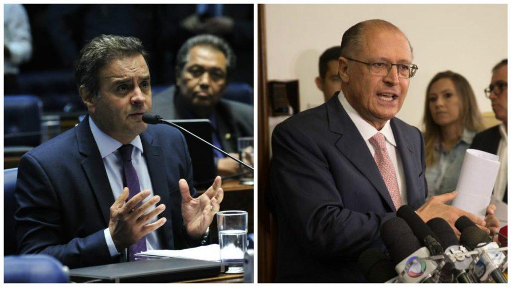 Alckmin se reúne com Aécio em Brasília para tratar da reforma da Previdência