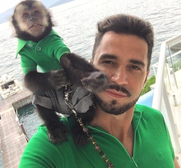 Macaco de Latino morre atropelado e cantor fica arrasado