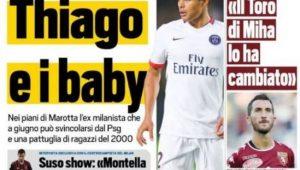 Jornal italiano destaca interesse da Juventus em Thiago Silva  veja capas f325b6316546a