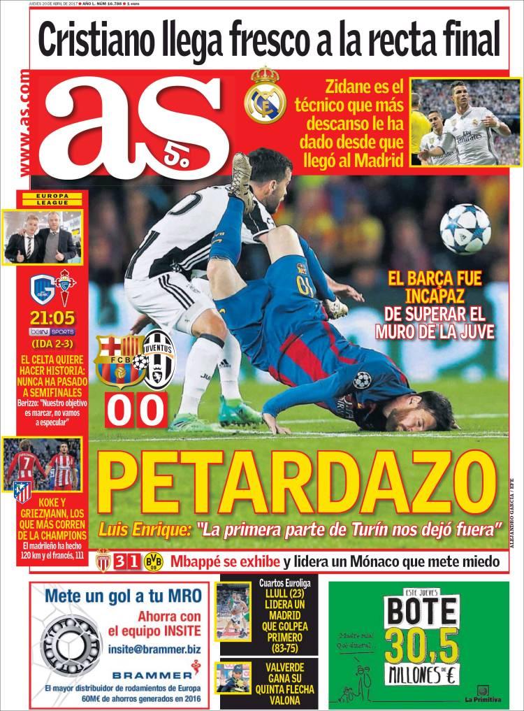 Eliminação do Barça é destaque nos jornais pela Europa  veja capas ... 5b848ae10e46e