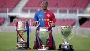 Eto'o fala em voltar ao Barça: 'Quero ser o 1º técnico negro a vencer a Champions'