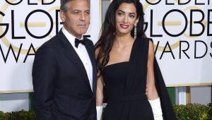 George Clooney e Amal Alamuddin no Globo de Ouro de 2015