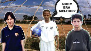 Messi vs Neymar vs CR7 quando CRIANÇAS! OLHA ISSO!
