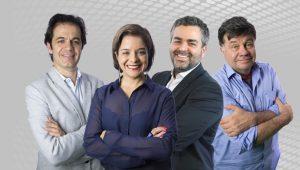 Patrick Santos, Vera Magalhães, Carlos Andreazza, Marcelo Madureira, 3 em 1