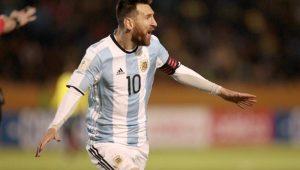 Lionel Messi marcou três gols e levou a Argentina à Copa cbff24da43317