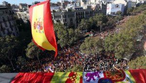 Mundo Espanha Barcelona Catalunha Manifestação