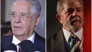 Lula e FHC: presença forte na política externa