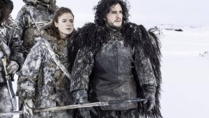 Jon Snow e Ygritte em Game Of Thrones