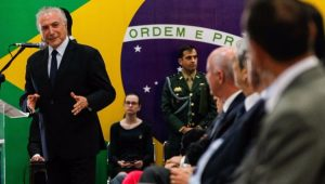 Presidente Michel Temer participa de solenidade em homenagem ao início do movimento republicano