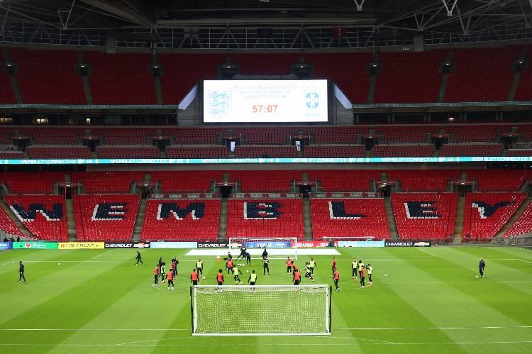 Treino da Seleção Brasileira no Wembley, em Londres