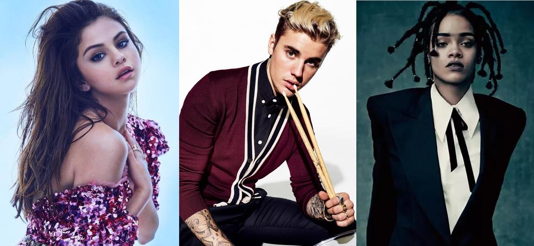 Selena Gomez, Justin Bieber e Rihanna concorrem a prêmio de