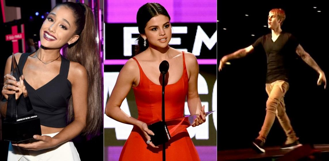 Ariana Grande, Selena Gomez e Justin Bieber são os destaques