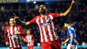 Diego Costa comemorou seu retorno ao Atlético em grande estilo