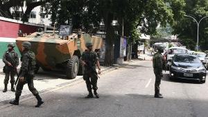 Tropas já patrulham ruas do Rio, incluindo entorno do Palácio Guanabara