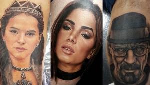 Tatuador que fez Marquezine em fã já desenhou outros rostos famosos