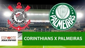 Corinthians x Palmeiras: acompanhe o jogo ao vivo na Jovem Pan