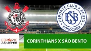 Corinthians x São Bento: acompanhe o jogo ao vivo na Jovem Pan