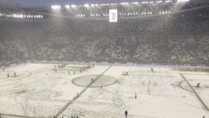 Nevasca adia jogo entre Juventus e Atalanta pelo Campeonato Italiano