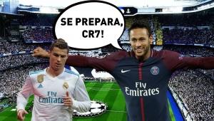 Neymar, cristiano ronaldo, psg, real madrid, arquibancada JP