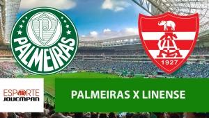 Palmeiras x Linense: acompanhe o jogo ao vivo na Jovem Pan