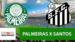 Palmeiras x Santos acompanhe o jogo ao vivo na Jovem Pan