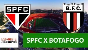 São Paulo x Botafogo: acompanhe o jogo ao vivo na Jovem Pan