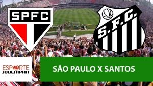 São Paulo x Santos: acompanhe o jogo ao vivo na Jovem Pan