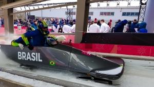 Brasil decepciona no bobsled, mas mantém esperança de chegar ao Top 20