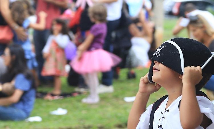 Bloquinho costuma trazer diversão para exclusiva para crianças no carnaval paulistano