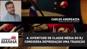 Juventude de classe média do RJ considera depredação uma tradição