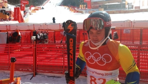 Michel Macedo não conclui slalom especial e encerra participação na Olimpíada