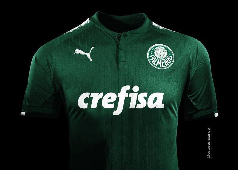 Reprodução   Twitter Modelo é uma das sugestões criadas por internautas de  camisa do Palmeiras com o logo da marca alemã Puma 668b57baf4df4