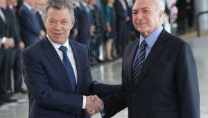 Temer e Juan Manuel Santos repudiam crise humanitária na Venezuela