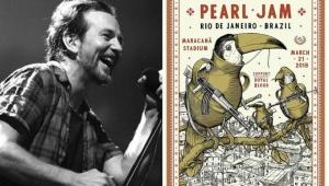 Pôster de show do Pearl Jam gera discussão no RJ