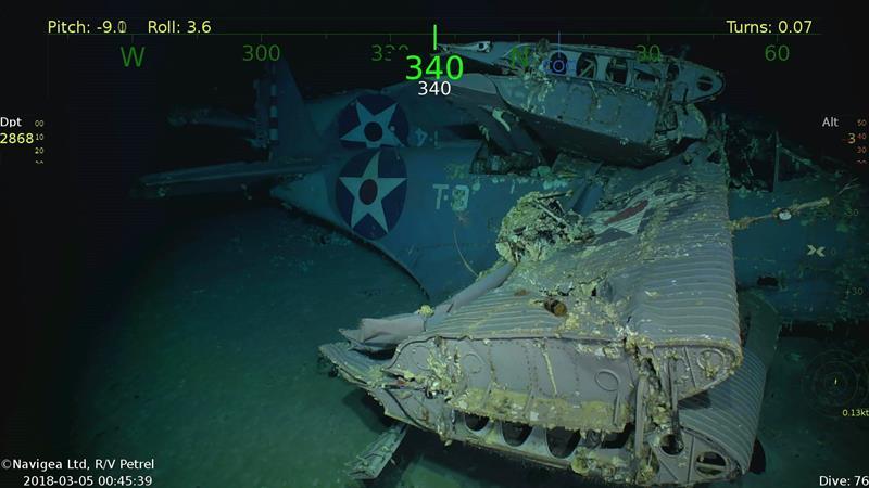 Porta-aviões da Segunda Guerra Mundial são encontradas no Oceano