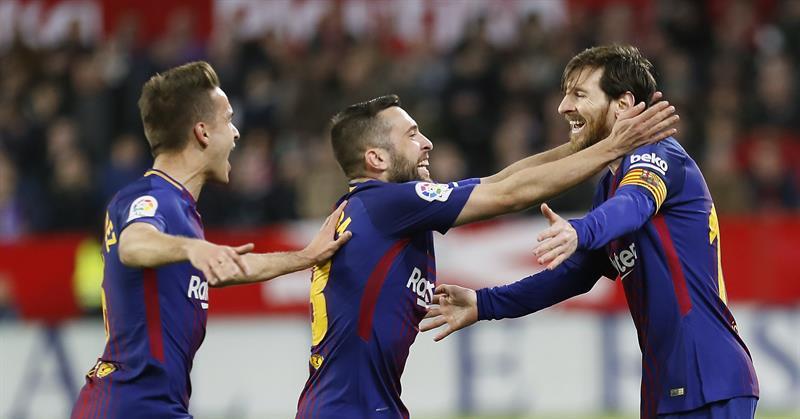 EFE Messi foi o responsável por garantir o resultado para a equipe do  Barcelona. A invencibilidade do Barcelona no Campeonato Espanhol ... 1eaddfb1b2c1f