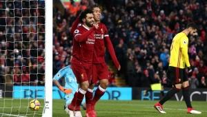 Salah dá show, Firmino marca e Liverpool goleia Watford pelo Inglês