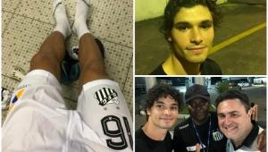 """Lateral do Santos sofre no doping, """"perde"""" ônibus e rouba a cena na internet"""