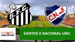 Santos x Nacional: acompanhe o jogo ao vivo na Jovem Pan