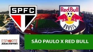 São Paulo x Red Bull: acompanhe o jogo ao vivo na Jovem Pan