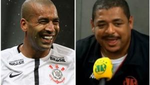 """""""Cada golzinho do Sheik são mais dois meses de contrato"""", brinca Vampeta"""