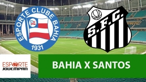 Bahia x Santos: acompanhe o jogo ao vivo na Jovem Pan