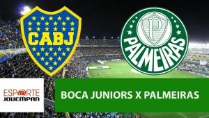Boca Juniors x Palmeiras: acompanhe o jogo ao vivo na Jovem Pan