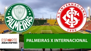 Palmeiras x Internacional: acompanhe o jogo ao vivo na Jovem Pan
