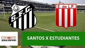 Santos x Estudiantes: acompanhe o jogo ao vivo na Jovem Pan