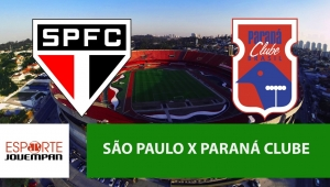 São Paulo x Paraná: acompanhe o jogo ao vivo na Jovem Pan